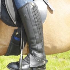 Riders Trend Full Grain Leather Half Chaps